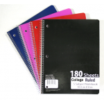 C/R Spiral School Notebooks $2.49 Each.