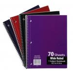 W/R Spiral School Notebooks $0.82 Each.