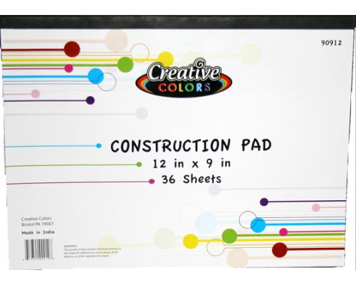 Construction Paper Pad 36 Sheets