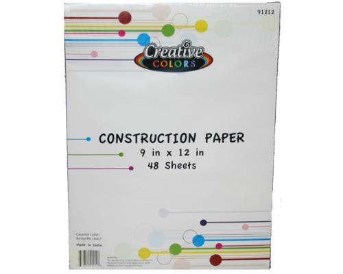 Construction Paper $1.09 Each.