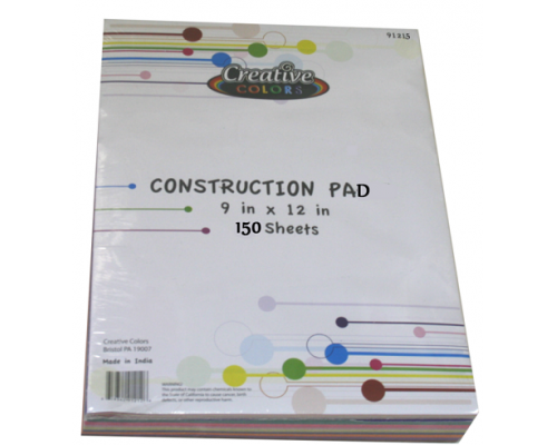 Construction Paper $3.25 Each.