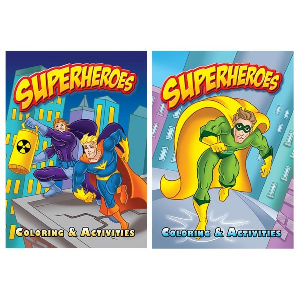 Super Heroes Coloring Books