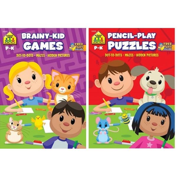 Brainy Kids Coloring & Activity Books