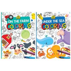 The Farm & Under The Sea Coloring Books