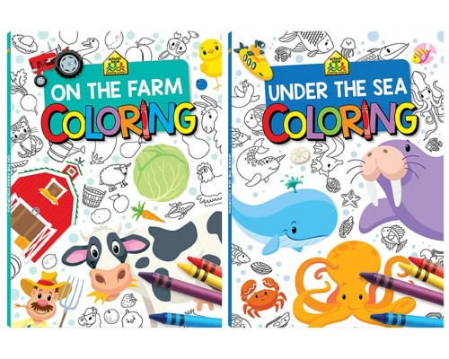 The Farm & Under The Sea Coloring Books