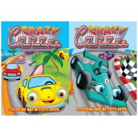Crazy Cars Coloring Books
