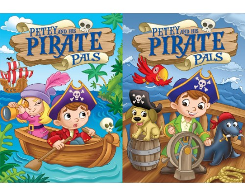 Pirates Embossed Coloring Books