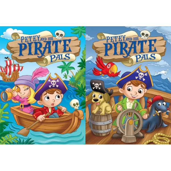 Pirates Embossed Coloring Books