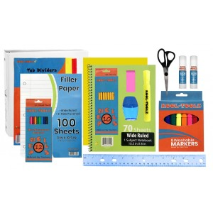 Wholesale 47 Piece School Supply Kit - Elementary