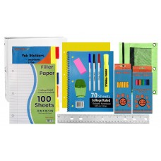 Wholesale 40 Piece School Supply Kit - Middle/High