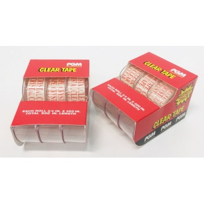 3 Pack Clear Tape PGM