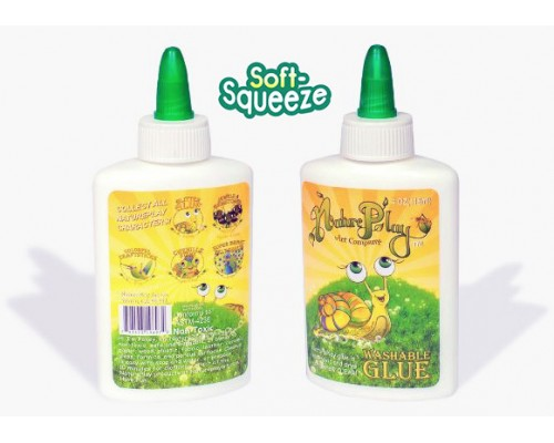 Nature Play Washable Bottle Glue 4oz.