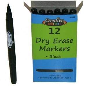 Dry Erase Markers Black 12ct. Fine Tip