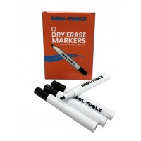 Kool Toolz Dry Erase Markers Black 12ct. Chisel Tip