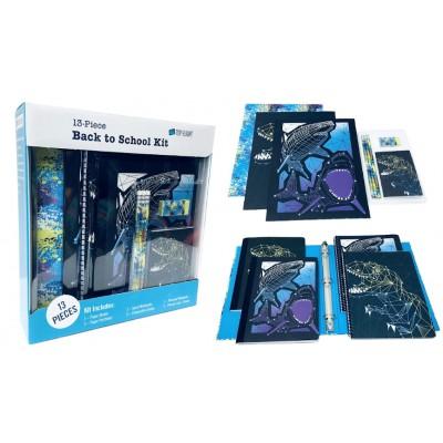 Sharks & Dinosasurs 13 Pc. School Supply Kit