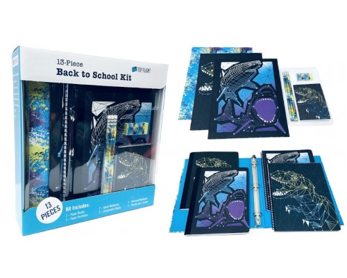 Sharks & Dinosasurs 13 Pc. School Supply Kit