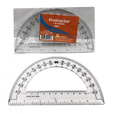 "6"" Plastic Protractors"