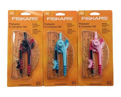 FISKARS Protractor & Compass Set