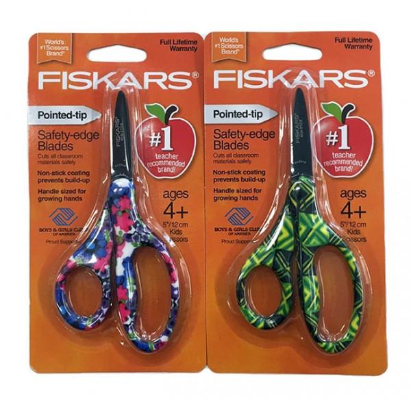 """FISKARS Designer 5"""" Pointed Kids Scissors"""