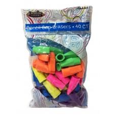 Creative Colors Cap Erasers 40ct.