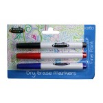 Creative Colors Dry Erase Fine Tip Markers 3ct.