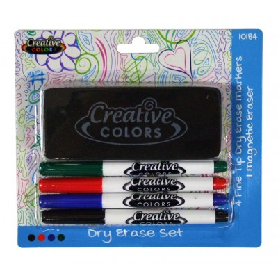 Creative Colors Dry Erase Fine Tip Marker Set
