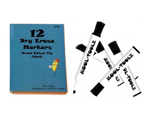 Dry Erase Chisel Tip Markers