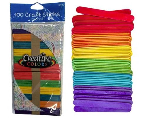 Colored Wood Craft Sticks