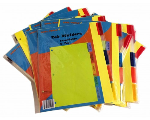 5 Tab Binder Dividers