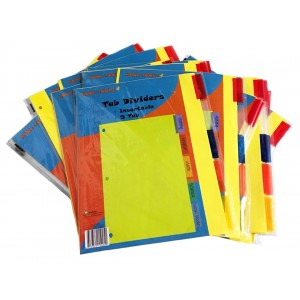 Kool Toolz Index Dividers 5 Tabs