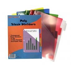 Kool Toolz 5 Tab Poly Index Dividers w/ Pocket