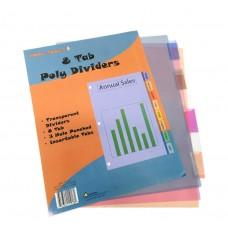 Kool Toolz Poly Index Dividers 8 Tabs