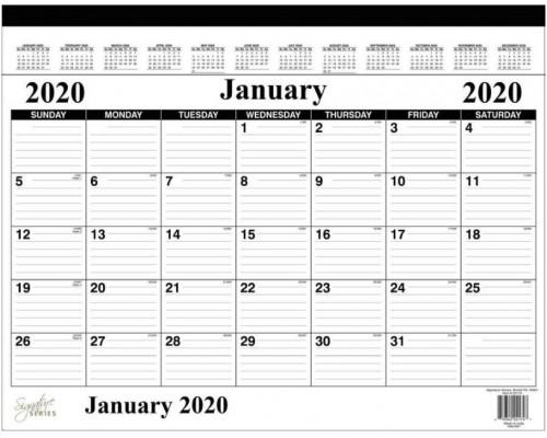 "17""x 22"" Desk Pad Calendar"