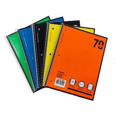 1 Subject W/R Spiral Notebooks Unison