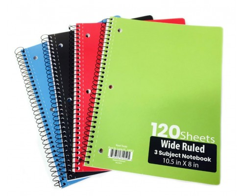 3 Subject W/R Spiral Notebooks