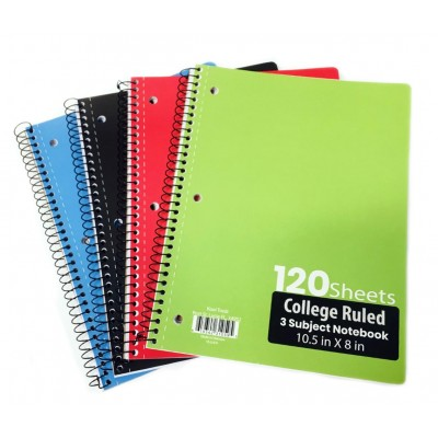 3 Subject C/R Spiral Notebooks