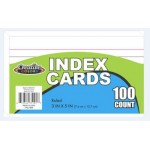 """3"""" x 5"""" Lined Index Cards $0.52 Each."""