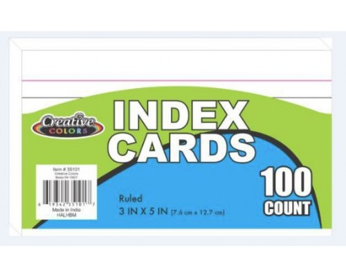"3""x 5"" Lined Index Cards"