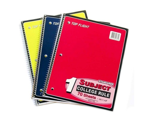 C/R Spiral Notebooks Top Flight