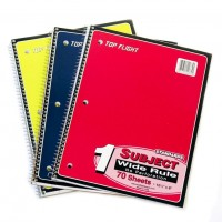 1 Subject W/R Spiral Notebooks Top Flight