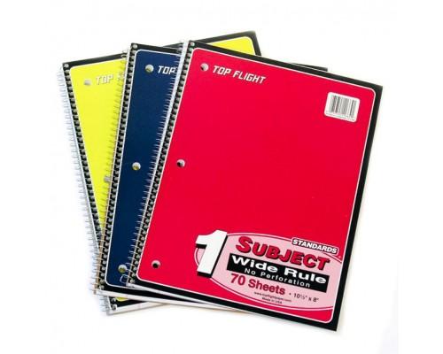 1 Subject W/R Spiral Notebooks Top Flight