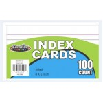 "4""x 6"" Lined Index Cards"