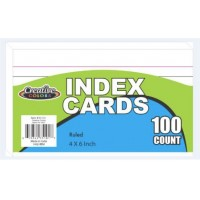 """4""""x 6"""" Lined Index Cards"""