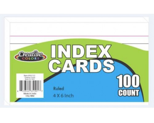 "4""x 6"" Lined Index Cards 100 count"