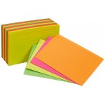 """4""""x 6"""" Lined Neon Index Cards 50 count"""