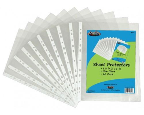 Creative Colors 10 ct. Sheet Protectors