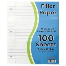 W/R Filler Paper 100 Sheets