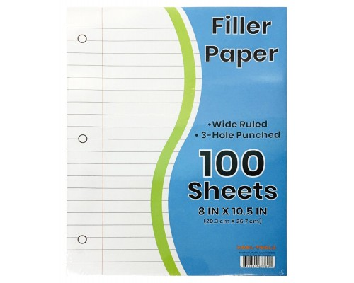W/R School Notebook Paper 100 Sheets