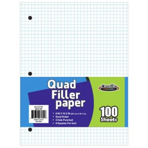 Quad Ruled Graph Paper 100 Sheets