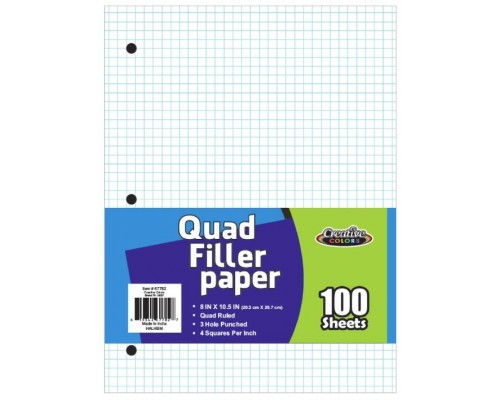 Quad Ruled Graph Paper 100 Sheets
